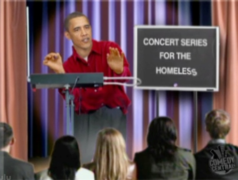 Obama Theremin Concert For The Homeless