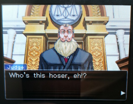 Phoenix Wright Canadian Judge