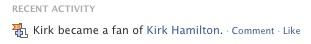 Kirk is a fan of Kirk