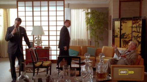 Mad Men Bert's Office Framing