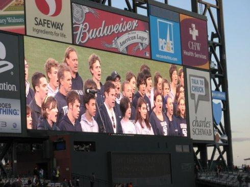 Kirk National Anthem ATT Park Jumbotron