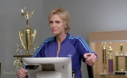 Jane Lynch Sue Sylvester Treadmill Glee